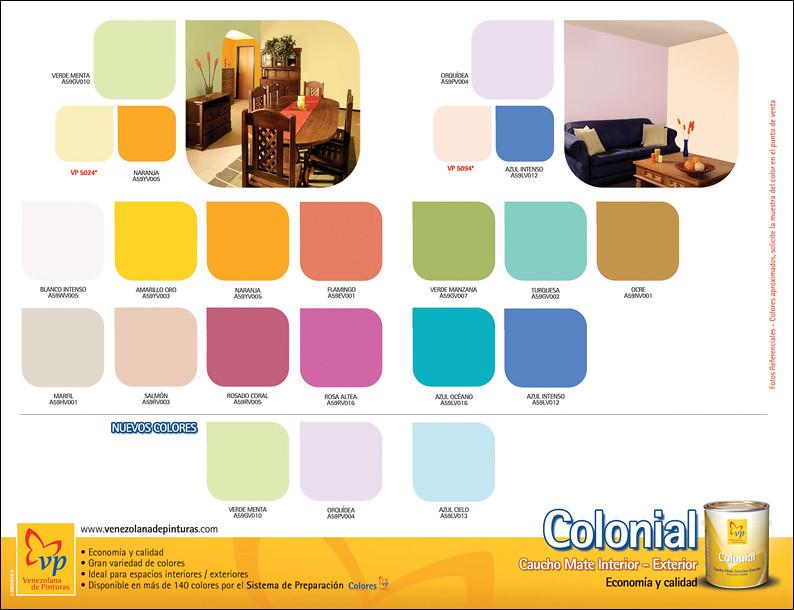 Catalogo de pintura para interiores pintura plstica mate for Catalogo de pinturas de interior
