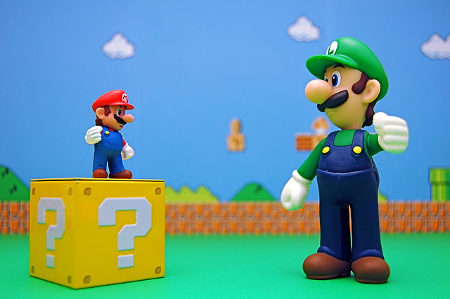 Luigi and Mario Question Block