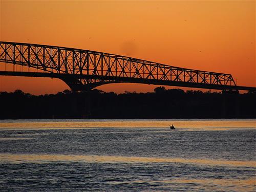 bridge water colors digital sunrise canon landscape florida powershot jacksonville pointandshoot stjohnsriver sx120