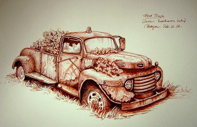 Rusty Ford Truck   Old Ford Sketch Into Maruman F4 S84 Drawiu2026   Flickr - Photo Sharing!
