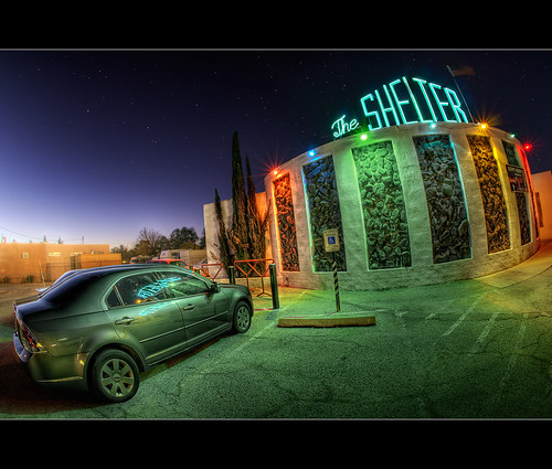 blue arizona building classic sign architecture bar night stars photography lights nikon neon tucson sigma fisheye hour tavern nik d200 hdr blending theshelter ourtime 10mm photomatix greatphotographers tonemap pimacounty hdratnight dragondaggerphoto bugeyedg egrantroad