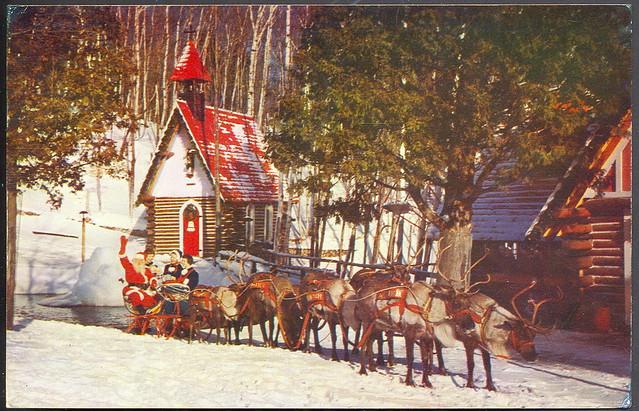 Madeline S Memories Vintage Christmas Cards: Vintage Christmas Memories Santas And The Team At The