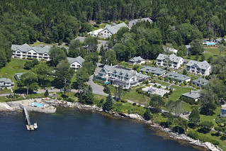 Spruce Point Inn  Aerial View
