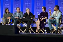 Brad Falchuk, Tim Minear, Kathy Bates, Sarah Paulson and Cuba Gooding, Jr.