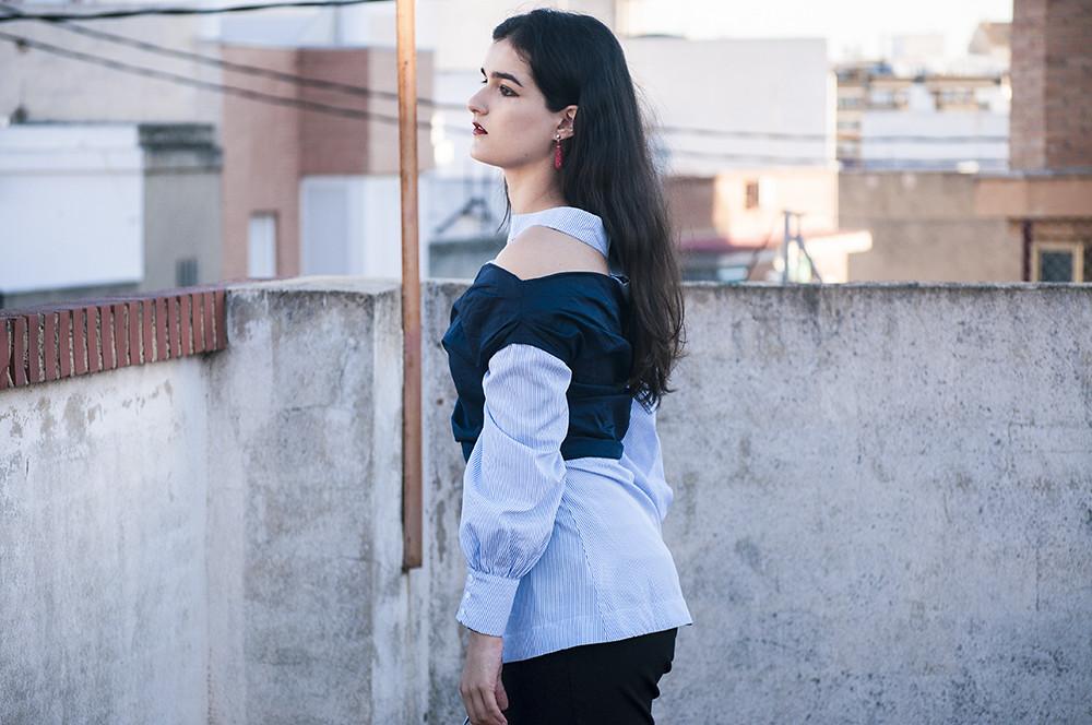 valencia something fashion blogger spain influencer streetstyle lightinthebox blue shirt work_0334 copia