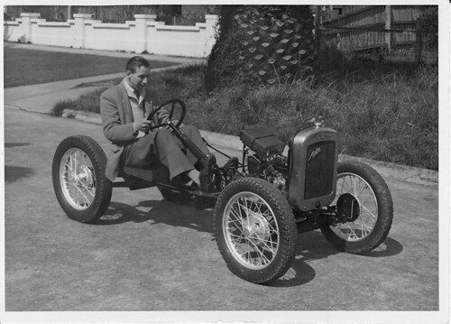 Tony Press on his 1929 Austin Seven  Chassis