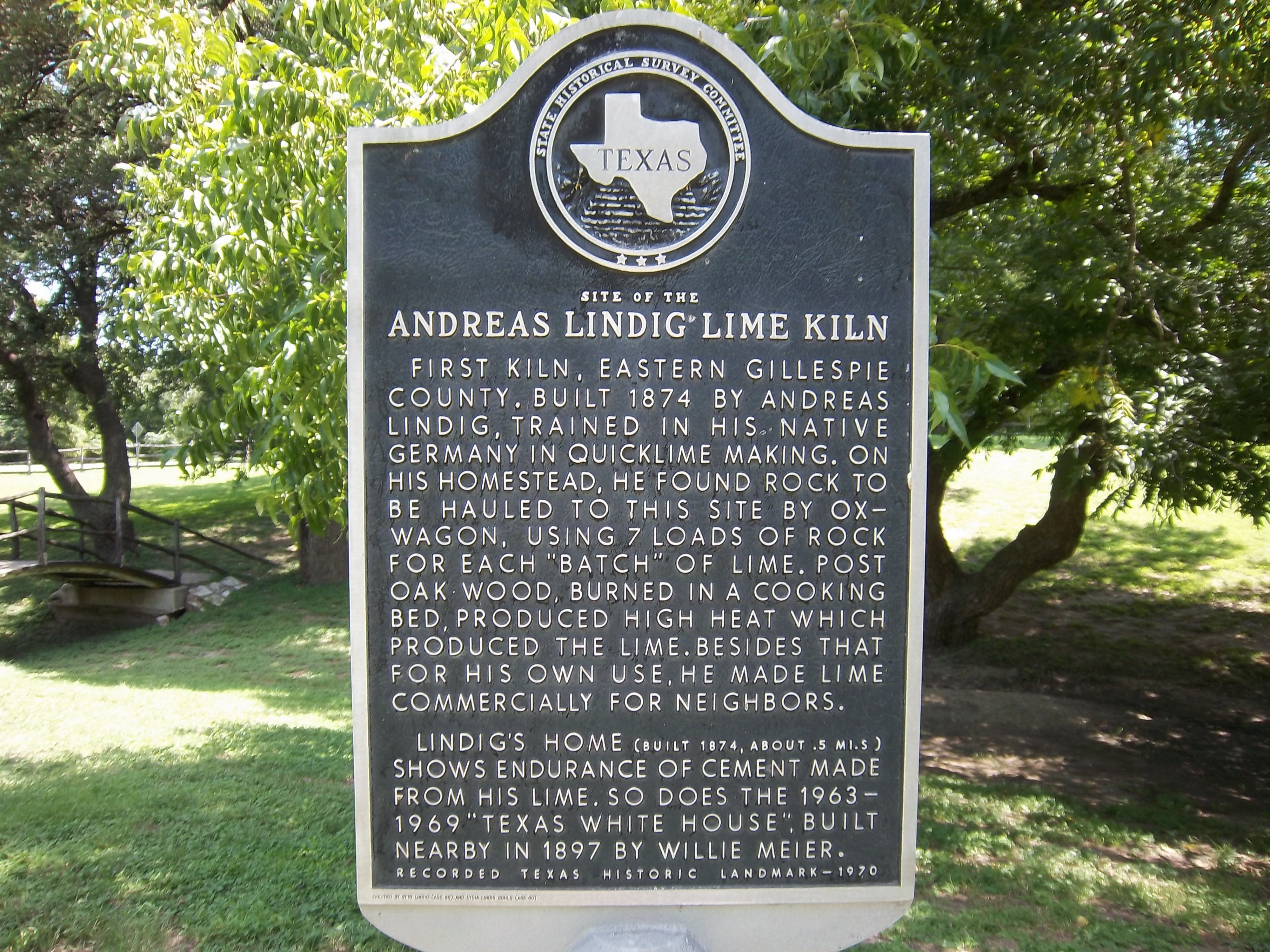 Cement Kilns In Texas : Site of andreas lindig lime kiln stonewall texas