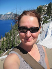 now, here, my dream come true! me at the Crater Lake..