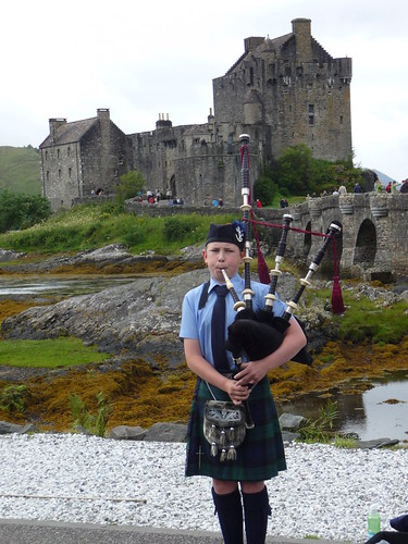 Piper at Eilean Donan Castle