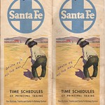 TAKING A RIDE BACK TO THE PAST: Santa Fe Timetable for trains heading west, 1960 Spring & Summer issue