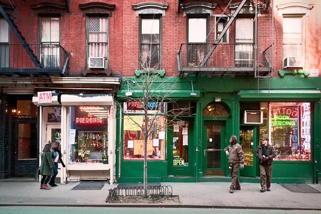 Christopher Street shops, Greenwich Village, New York, New York