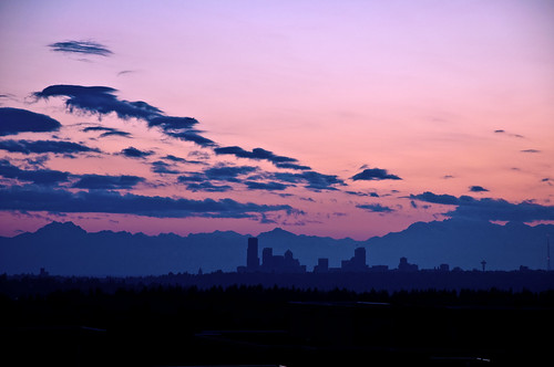 seattle city sunset skyline washington bellevue olympicmountains eastgatepr