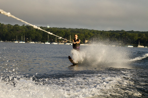 Waterskiing Lake Geneva 2010