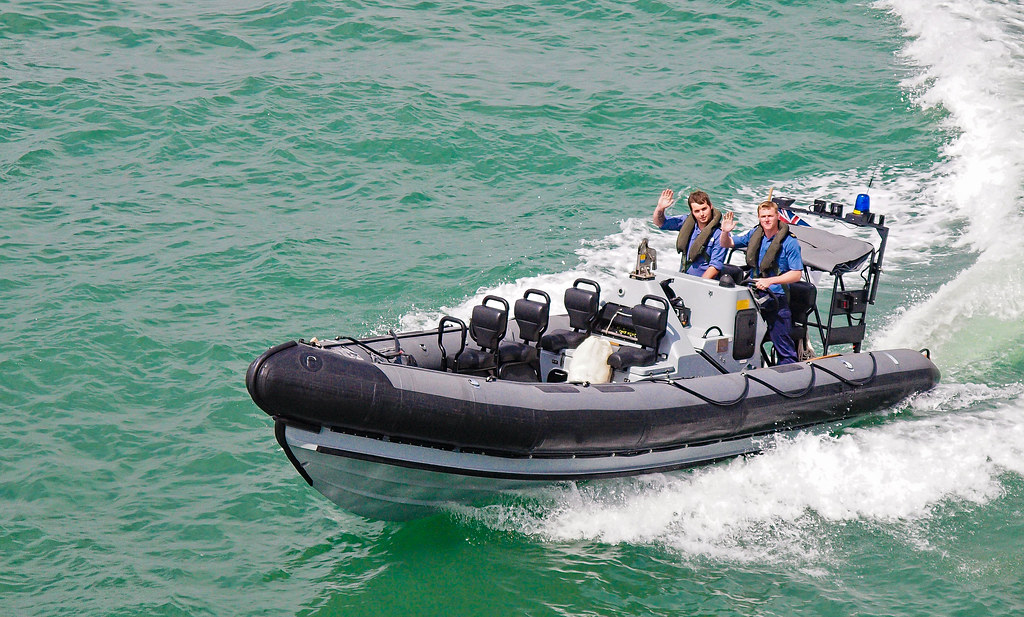 A Royal Navy Rigid Hull Inflatable Boat at Portsmouth Navy Day 2010