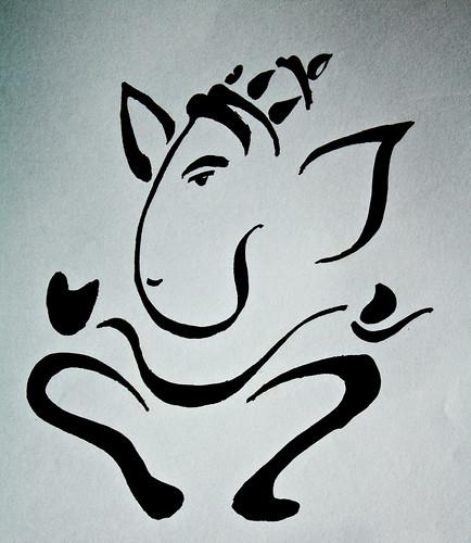 Ganesh With Laxmi Black And White Images | Joy Studio Design Gallery - Best Design