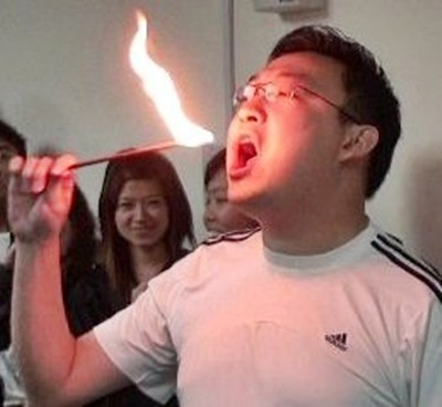 Ivan Teh RunningMan - Fire Eating