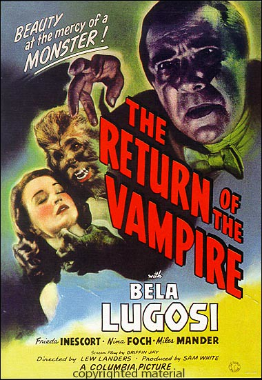Return Of The Vampire, The (Poster)