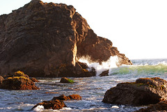sea, ocean, body of water, formation, geology, wind wave, wave, terrain, landscape, stack, coast, rock, cliff,