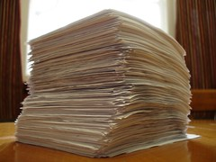 Photo: stack of paper