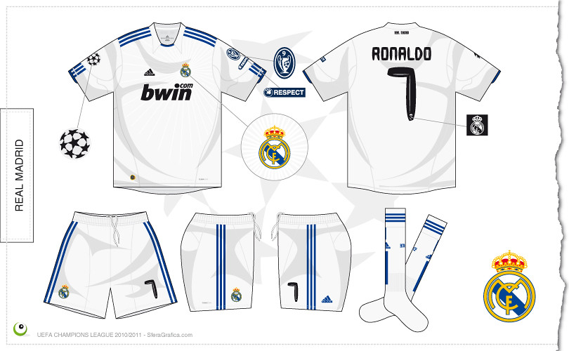 efc367199 Real Madrid Champions League home kit 2010 2011
