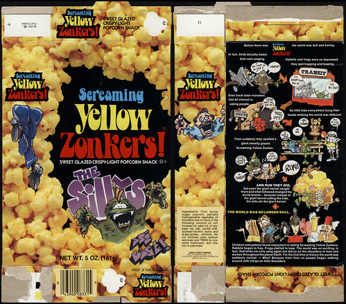 Lincoln Snacks - Screaming Yellow Zonkers! - The Sillys are Back - snack box - 1970's 1980's