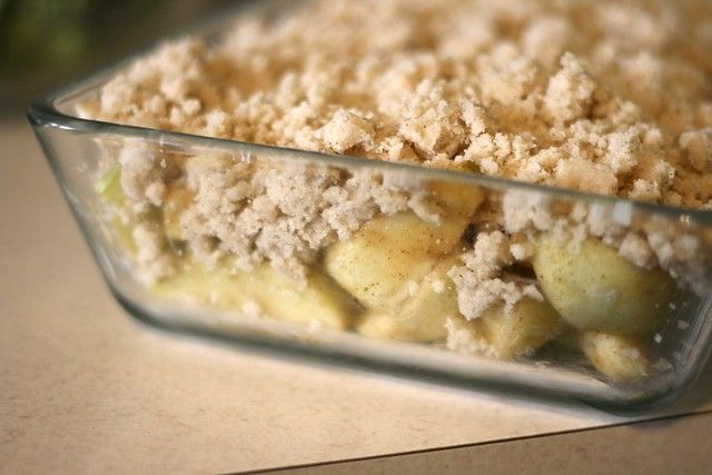 Apple Crisp Made With Spice Cake Mix