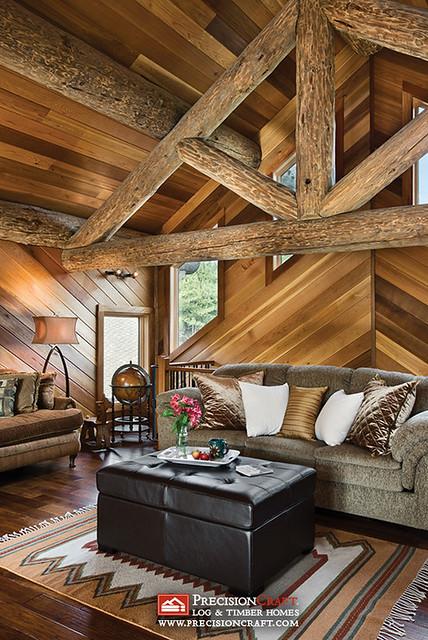 Log Home Loft | Log Truss | PrecisionCraft Log Homes ...