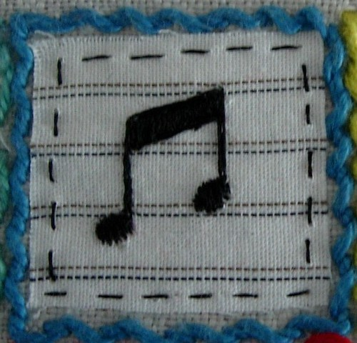 Musical Note square N03