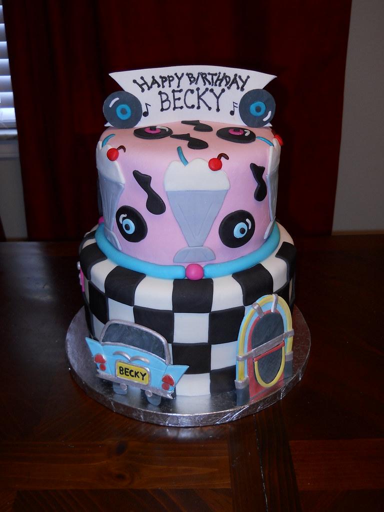 Incredible 50S Birthday Cake Jennifer Flickr Funny Birthday Cards Online Necthendildamsfinfo