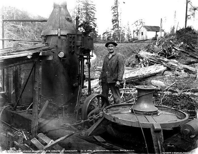 Oldest Donkey Engine Used For Logging In Washington