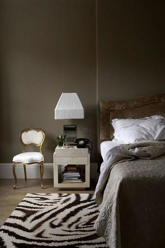 Dark glamorous bedroom