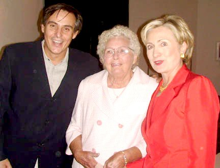 Ellyn Maude Rosas and First Lady, Senator Hillary Clinton  at Shop Studios with Host Jacques Rosas