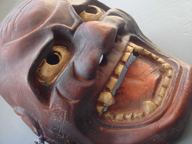 Japanese Demon Mask Handmade Oni Mask Unlike demons in Western culture