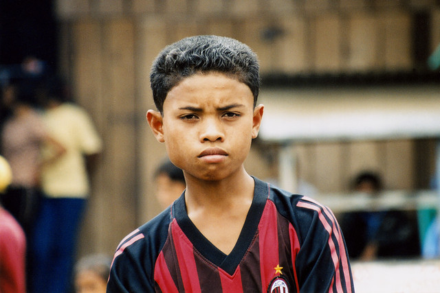 Portrait of an AC Milan boy.