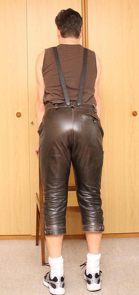 Remarkable, rather Spank in leather pants commit error