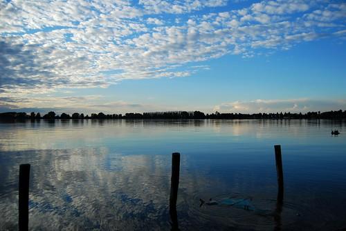 sunset reflections lago tramonto nuvole blu mantova azzurro riflessi mantua mincio