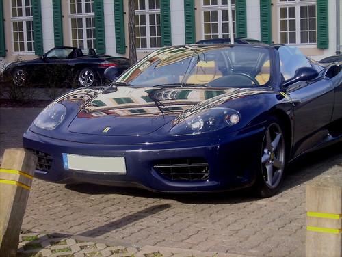 Ferrari 360 Spider und Porsche