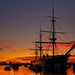 Sunset Over HMS Warrior by Sunset Snapper