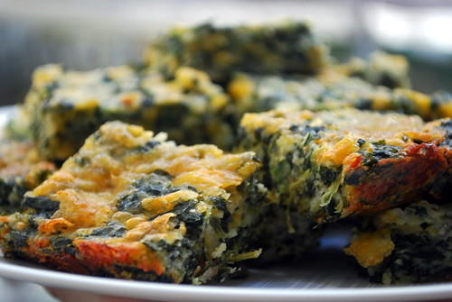 Spinach Cheese Squares