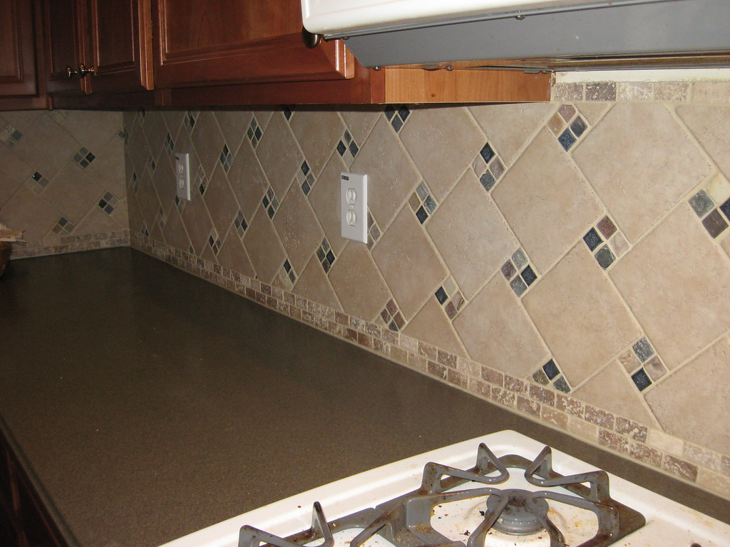 tumbled stone ideas for a kitchen backsplash