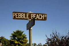 Pebble Beach Drive Sign