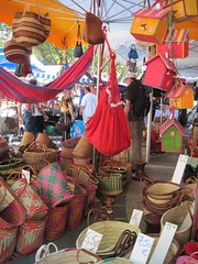 Baskets for sale on Bédoin market