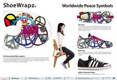ShoeWrapz World Peace Symbols, Patent Pending, by Phil Manker