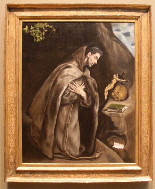 comparing el grecos st francis venerating 0 Saint francis venerating the immaculate conception speculum sine macula   st rita of cascia  el greco, saints john the evangelist and francis, c.
