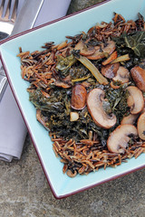 Wild Rice, Chestnuts Mushrooms and Kale