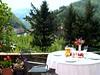lunch in the garden of Villa Rosalena