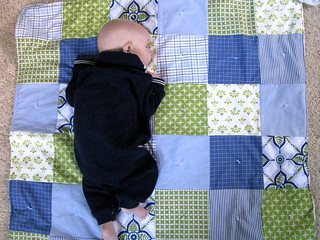 Baby Quilt from Dad's Shirts