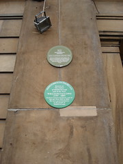 Photo of Customs House, Middlesbrough, George Burlison, and Middlesbrough Exchange Association green plaque