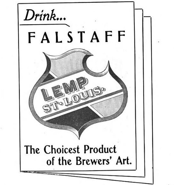 1902 Falstaff Lemp St. Louis Choicest Product of the Brewers Art