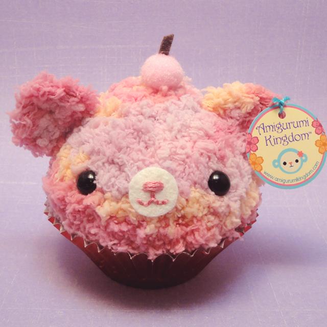 Amigurumi light berry swirl cupcake bear Explore ...